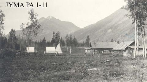 The Dennison and Britten's homes at Mount Robson.