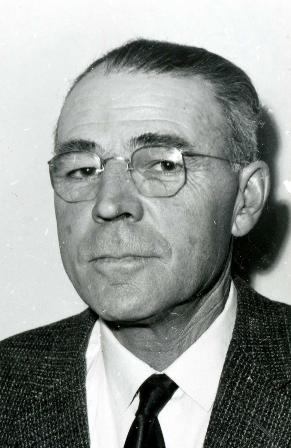 1963 portrait of Robert P. Haan, who was the chairman of the McBride and District Hospital Board of Directors.